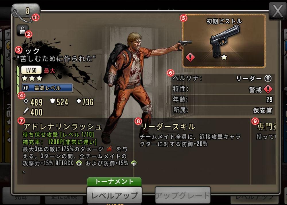 キャラクターの説明の画像